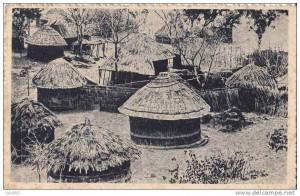 Carte postale d'un Kraal du Zimbabwe - Ex Rhodésie.