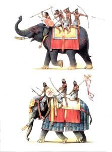 Illustrations en couleur d'Eléphants