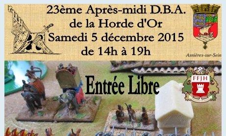 5 Décembre 2015, La Horde d'Or 92600 Asnières