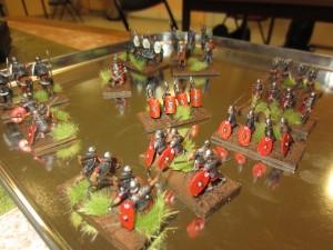 Les romains se préparant à rejoindre un champ de bataille...