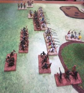 Hoplites contre Zoulous en bataille rangée