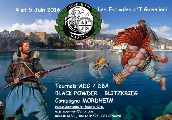 Estivales d'I Guerrieri, Bastia, 4 & 5 juin 2016