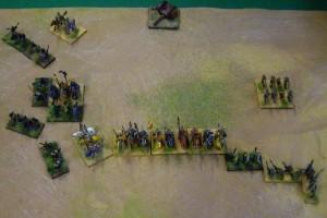 Centre enfoncé mais Lh adverse contrôllée et Chevaliers sans possibilité de recul !