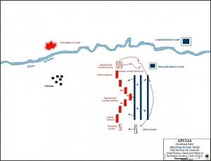 Plan de la bataille de Cannae...