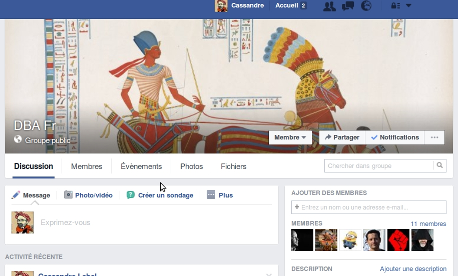 Notre Groupe FaceBook ...