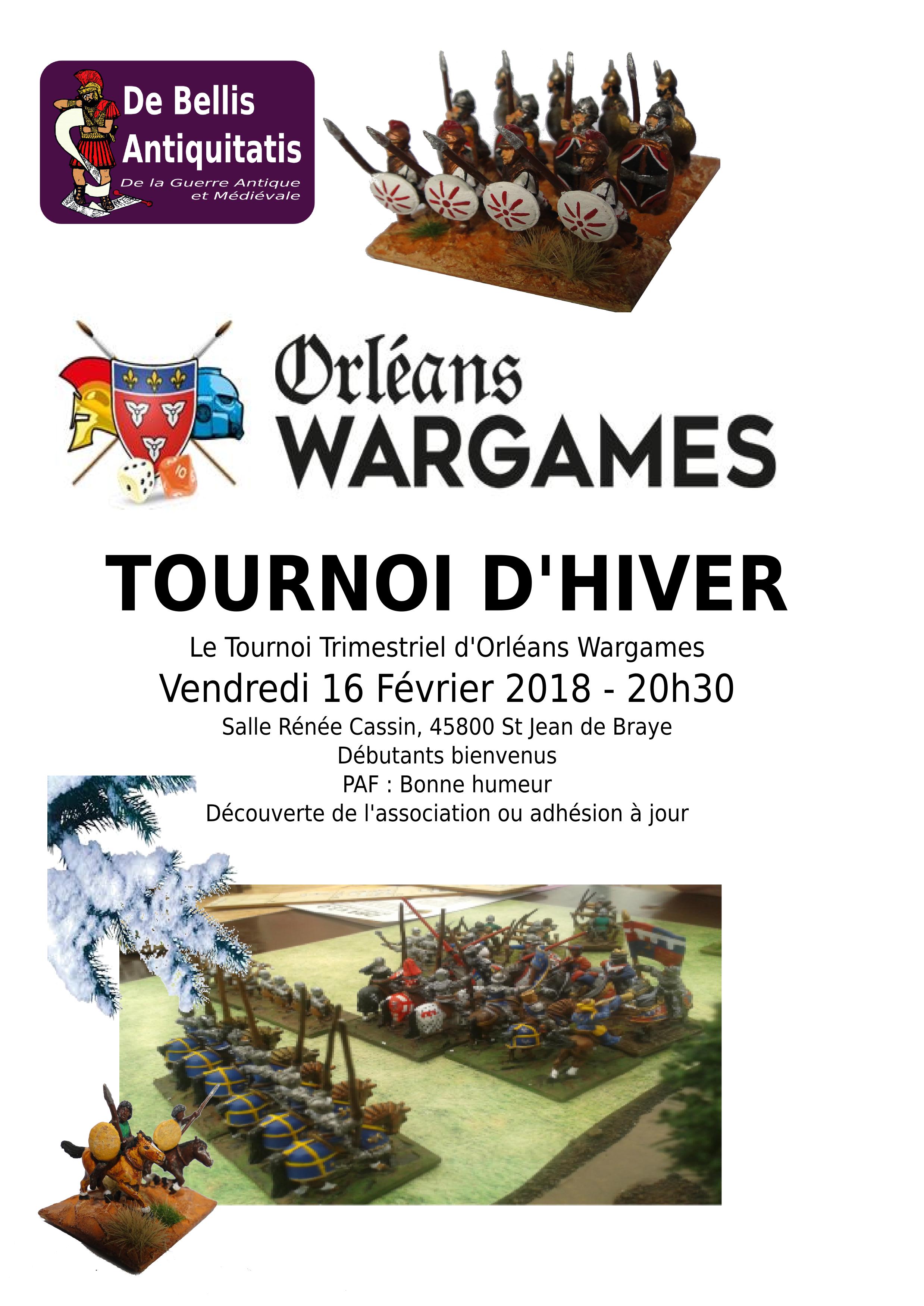 Orléans Wargames, un tournoi, une calotte !