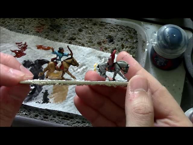 Peindre sur base blanche: la cavalerie légère in situ